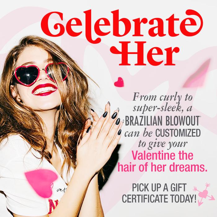 valentine salon special, brazilian blowout, valentines gift certificates
